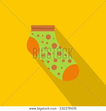 Small Sock Icon. Flat Illustration Of Small Sock Vector Icon For Web