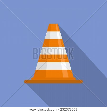 Attention Cone Icon. Flat Illustration Of Attention Cone Vector Icon For Web