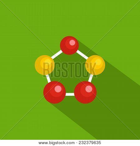 Hexagonal Lattice Icon. Flat Illustration Of Hexagonal Lattice Vector Icon For Web