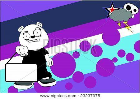 polar bear kid cartoon background