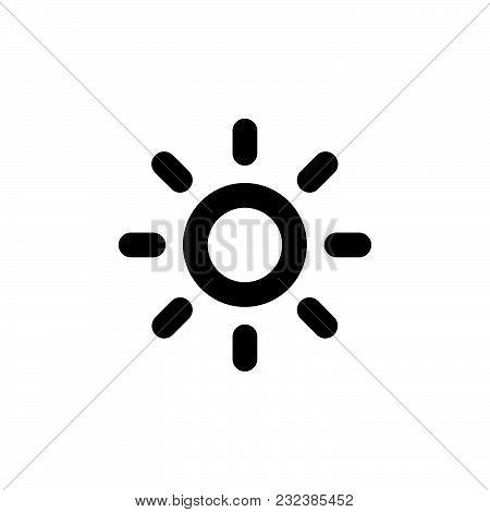 Sun Icon Isolated On White Background. Sun Icon Modern Symbol For Graphic And Web Design. Sun Icon S