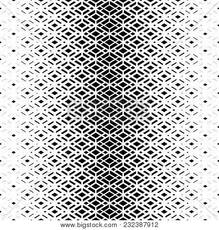 Modern Stylish Texture With Rhombuses. Seamless Vector Pattern. Repeating Geometric Tiles. White And