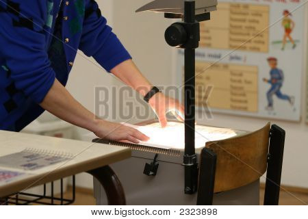 Overhead Projector In The Classrom