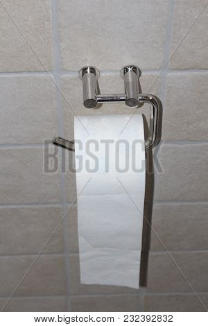 Toilet Paper. White Color Toilet Paper. Home Hygiene Roll.