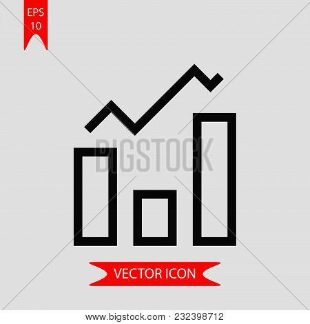 Bar Chart Icon Vector In Modern Flat Style For Web, Graphic And Mobile Design. Bar Chart Icon Vector