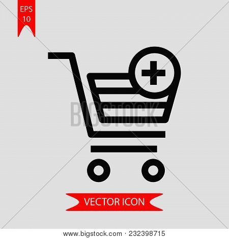 Shopping Cart Icon Vector In Modern Flat Style For Web, Graphic And Mobile Design. Shopping Cart Ico