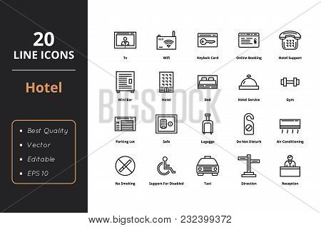 20 Thin Line Icons. Icons For Web And User Interface