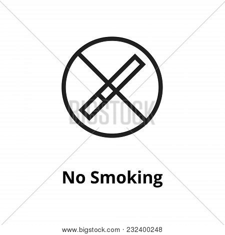 No Smoking Thin Line Icon. Icons For Web And User Interface