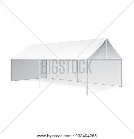 Promotional Advertising Outdoor Event Trade Show Pop-up Tent Mobile Marquee. Mock Up, Template. Illu