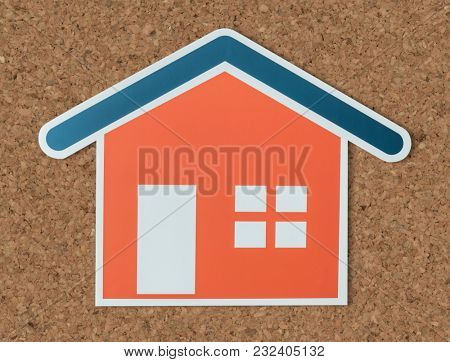 Home insurance cut out icon