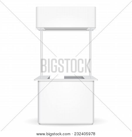 Sqaure Pos Poi Blank Empty Advertising Retail Stand Stall Bar Display With Roof, Canopy, Banner. On
