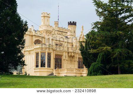 Lednice Castle Mansion In Lednice Valtice Area, Moravia, Czech Republic