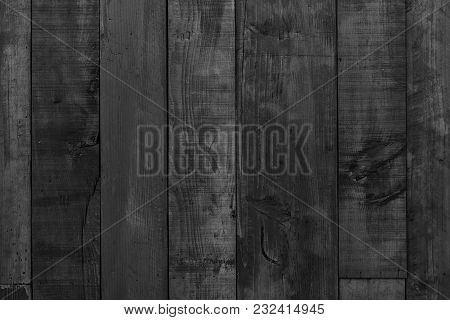 Dark Black Wood Background Wooden Board Texture