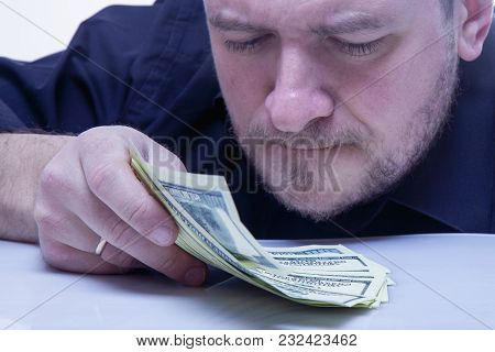 Businessman With Money In Hand. (success, Freedom, Financial Prospects, Career Advancement)