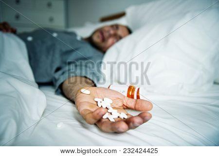 Man overdosed with medicine