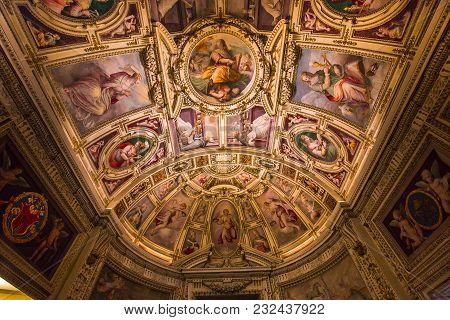 Interiors And Details Of The Vatican Museum, Vatican City