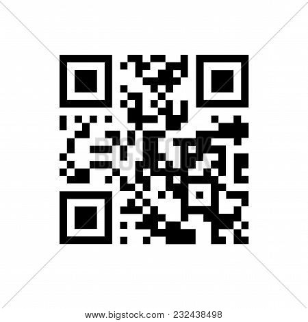 Qr Code Containing Text Qr-code. On White Isolated Background.