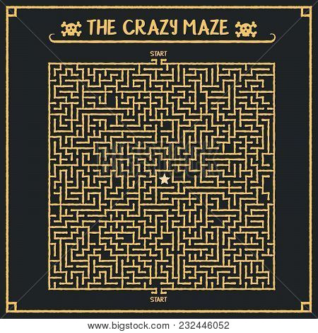 Vector Maze. Labyrinth Template Game Easy To Edit.