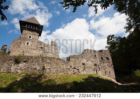 Ruins Of Castle Nevytske In Transcarpathian Region. Uzhgorod Photo. Nevitsky Castle Built In 13Th Ce