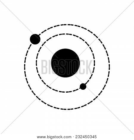 Solar System Vector Icon On White Background. Solar System Modern Icon For Graphic And Web Design. S