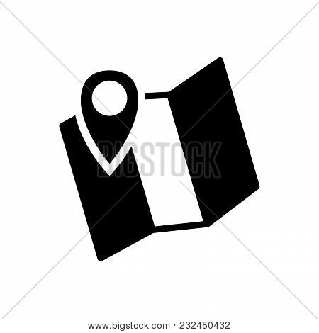 Map Vector Icon On White Background. Map Modern Icon For Graphic And Web Design. Map Icon Sign For L