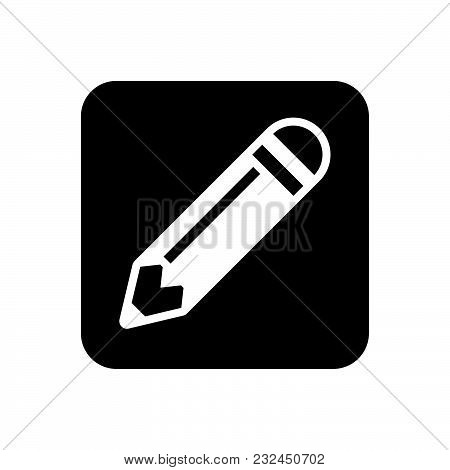 Pencil Vector Icon On White Background. Pencil Modern Icon For Graphic And Web Design. Pencil Icon S