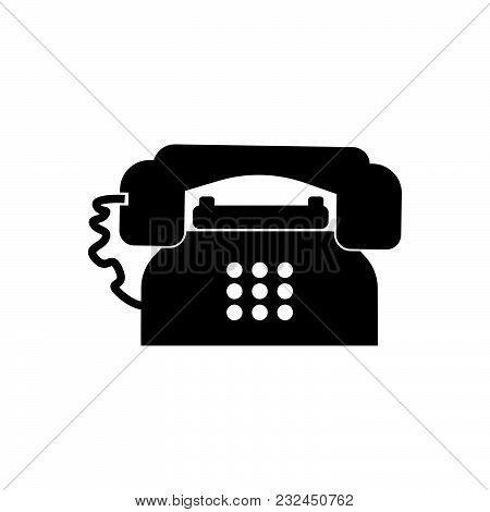 Telephone Vector Icon On White Background. Telephone Modern Icon For Graphic And Web Design. Telepho