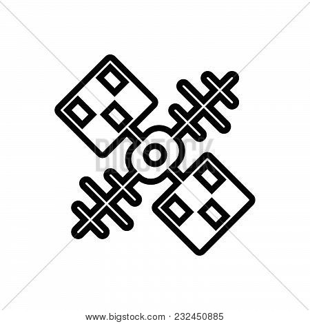 Satellite Vector Icon On White Background. Satellite Modern Icon For Graphic And Web Design. Satelli