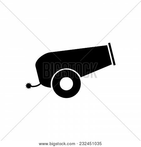 Cannon Vector Icon On White Background. Cannon Modern Icon For Graphic And Web Design. Cannon Icon S