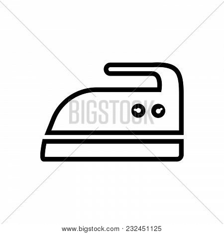 Iron Vector Icon On White Background. Iron Modern Icon For Graphic And Web Design. Iron Icon Sign Fo