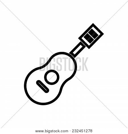Acoustic Guitar Outlined Symbol Of Musical Instruments