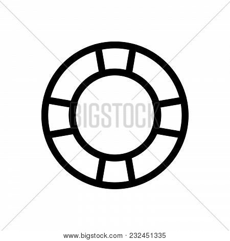 Swimming Ring Outlined Symbol Of Safety Ring For Swimming, Swimming Vector Icon, Swimming Image Jpg