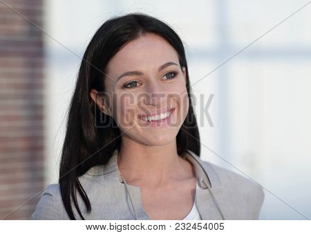 lose-up portrait of a modern young woman