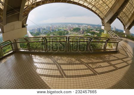 Kuching, Malaysia - August 26, 2009: View To The Kuching City From The Tv Tower Viewpoint In Kuching