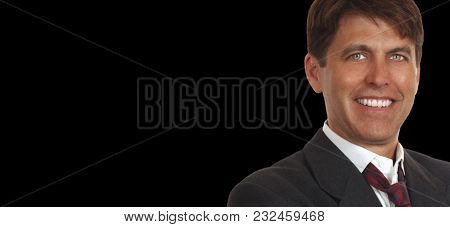 Businessman is Happy after a Good Day