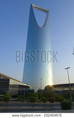 Riyadh - October 21: Kingdom Tower And Surroundings On October 21, 2007 In Riyadh, Saudi Arabia.