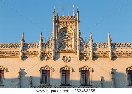 Lisbon Rossio Railway Station Portugal Picture Panorama