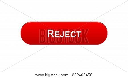 Reject Web Interface Button Red Color, Internet Site Design, Access Denied, Stock Footage