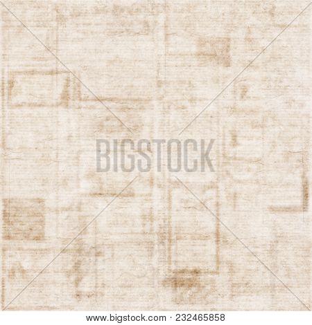 Old Newspaper Grunge Texture Background. Blurred Vintage Newspaper Background. A Blur Unreadable Old