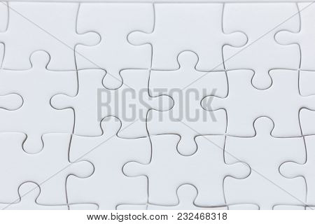 Close Up White Jigsaw Puzzle Background Texture