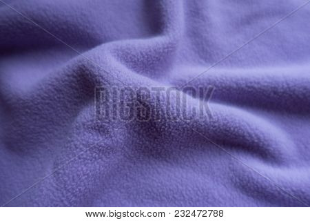 Light Violet Fleece Fabric In Soft Folds