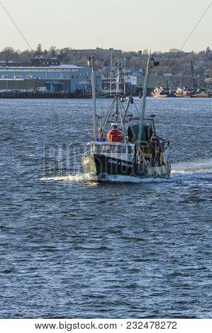 New Bedford, Massachusetts, Usa - March 19, 2018: Fishing Vessel Kelsi & Morgan, Hailing Port Point