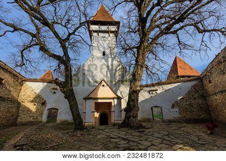 Cincsor Medieval Church. Brasov County.  Transylvania, Romania