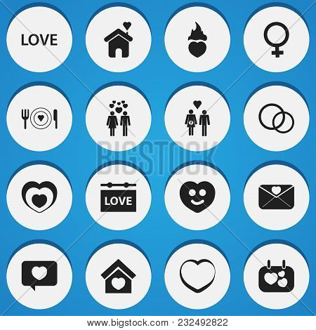 Set Of 16 Editable Amour Icons. Includes Symbols Such As People, Lineage, Hanging Board And More. Ca