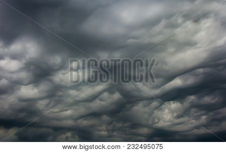 Dark And Dramatic Storm Clouds On The Sky, Background