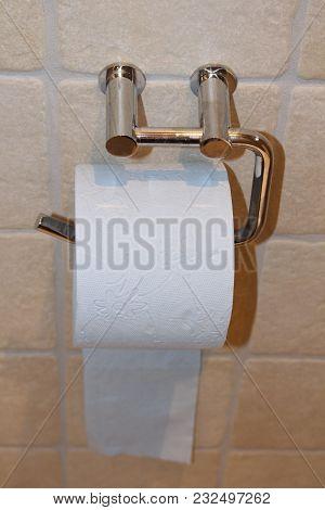 Toilet Paper. White Toilet Paper. Home Hygiene Roll.