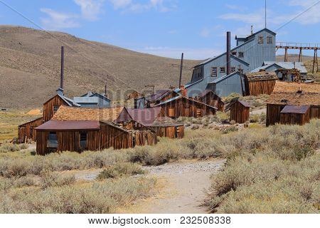 View From Bodie Ghost Town, California Usa. Old Abandoned Mine