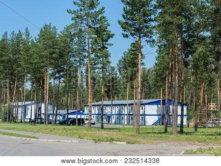 Biruzovaya Katun, Russia - July 25, 2015: Biruzovaya Katun Is A Special Economic Zone Of A Tourist-r