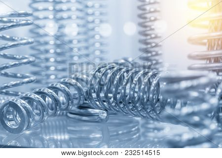 The  Coil Spring For Industrial Purpose With The Lighting Effect.
