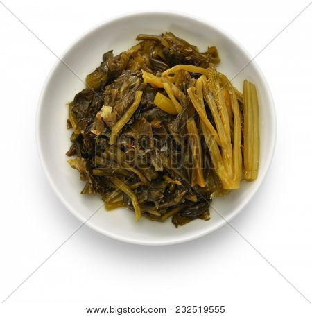 canned chinese pickled cabbage, preserved snow vegetable, chinese food